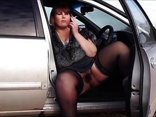 Eros \u0026 música bbw por um bichano peludo, fumaça no carro