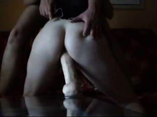 Esposa dildo fodendo ao orgasmo