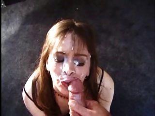 Milf blowjob and facial