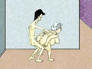 Sexy avó e squirt anal!animação!