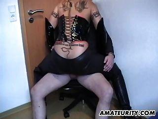 Busty amador milf dominação fuck com cum sobre mamas