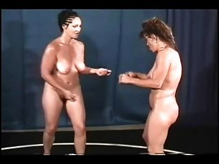 Nude wife wrestling