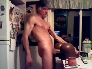 Str8, paizinho, golpeando, bolso, bichano, cozinha