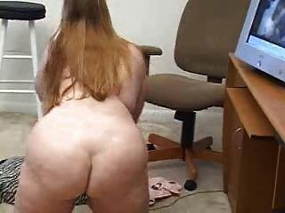 bbw na frente da webcam