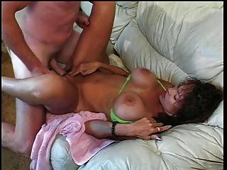 Busty mad ho cunt e titty fucked