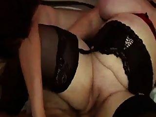 Francês bbw 65yo, avó, olga, enorme, boobs, trio, festa