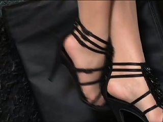 pequeno titted jo em meias bronzeadas