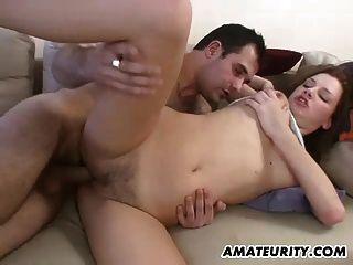 namorada amadora busty suga e foda com facial