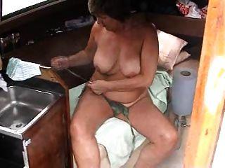diversão no barco
