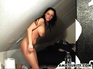 milf amputado e busty suga e foda em casa