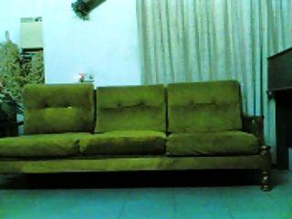 indonésia, indo, pinto, golpeado, sofá