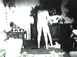 trio bissexuais a caminho de orgasmos mmf (vindima dos anos 1930)