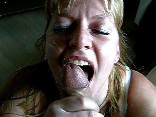 sucky facial quando ela é uma porcaria para engolir