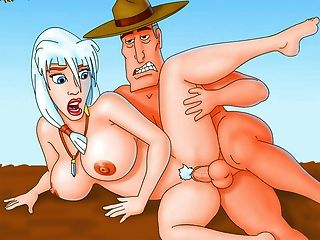 Futurama e outros heróis de desenhos animados famosos no pornô mais sujo