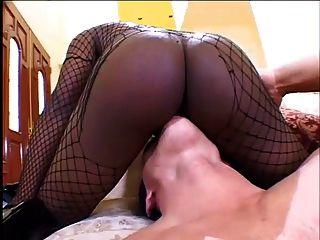 Ebony bbw fucking até sua cauda goteja