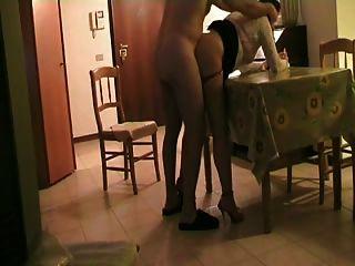 foda na sala de estar na mesa pt1