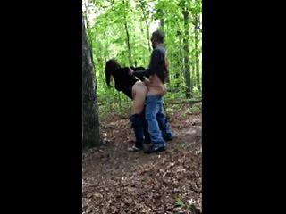 Hot fuck # 205 na floresta com uma esposa infiel (cougar)
