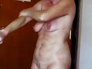 Granny sexy com musculação