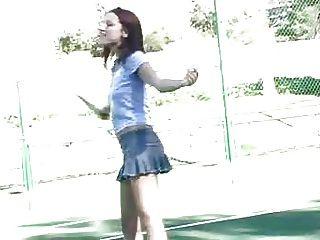 dana ftv jogando tênis