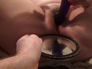 ejaculante amador de um orgasmo feminino maciço de coce