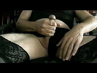 calcinha acariciando em toda a roupa interior preta e parte panty iii