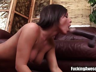 busty brunette joga com fucking machine