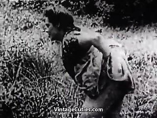 sexo duro no prado verde (vintage dos anos 30)