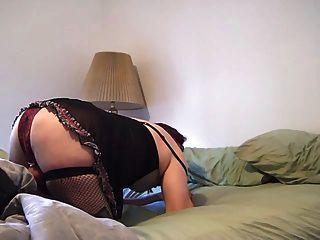 submissive crossdresser suga um vibrador