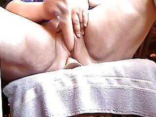bbw masturbando de perto