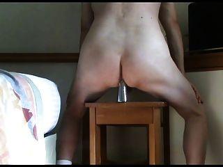 diversão anal com vaso
