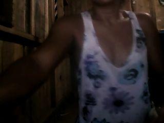 filipina, mãe, cereja, corsen, 32, mostrando, dela, bichano, bunda, cam