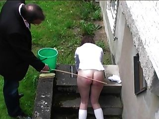 colegial caned outdoors