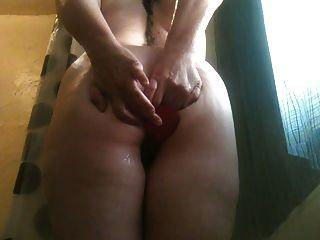 esposa impertinente dorminhoca anal no banho