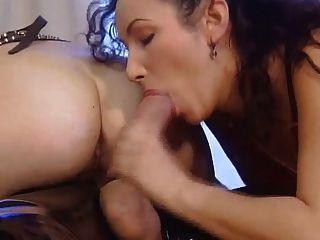 Lee ahn \u0026 monica mcdonnell 3some em borracha e couro