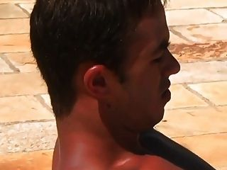Hot sexy guys fucking in the pool