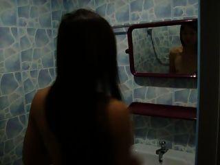 minha linda namorada namorada está tomando banho