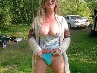 nudez ao ar livre e masturbação my natalie k eurotour france