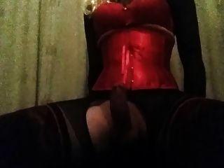 cd em corset andando vibro cowgirl até cum