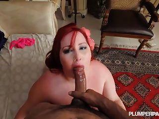 Redhead ssbbw eliza allure anda e foda enorme pau