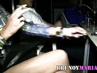 brunoymaria sol se folla a un yogurin que le regala su novio