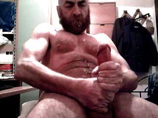 grande dick, papai, urso, tiroteio, barba ursos