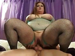 Big Bbw bitch adora um galo em seu asshole com fome