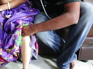 Seda de cetim saree aunty romance com médico