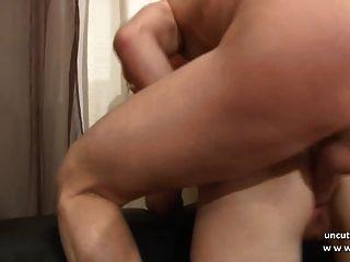 sofá de elenco anal jovem ruivo francês duplo penatrado