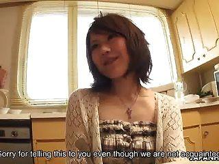 garota asiática ao lado, fodida e creme duro