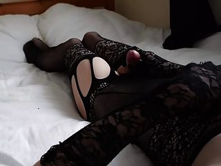 bodystocking jerk and cum!