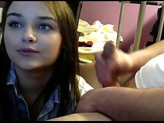 jovem casal amador quente caugth na web cam
