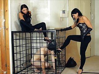 humilhação do sexo feminino do russo e escravo de treinamento