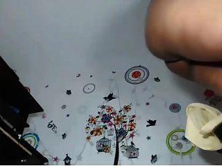 Colombiana bbw tocando na webcam com vibrador