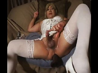Hot cross dresser machine ass fucked e cum cum cum